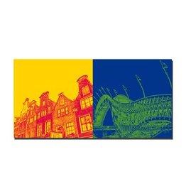 ART-DOMINO® BY SABINE WELZ LEINWANDBILD - AMSTERDAM - 4126