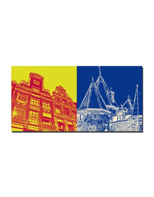 ART-DOMINO® by SABINE WELZ Amsterdam - Häuser Herengracht + Waaggebouw