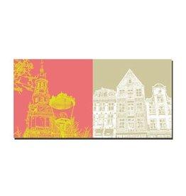 ART-DOMINO® by SABINE WELZ LEINWANDBILD - AMSTERDAM - 4105