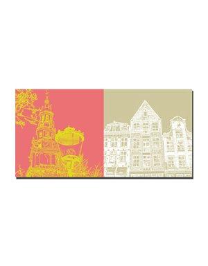ART-DOMINO® by SABINE WELZ Amsterdam - Zuiderkerk + Drei Häuser Centrum