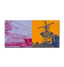 ART-DOMINO® by SABINE WELZ LEINWANDBILD - AMSTERDAM - 4108