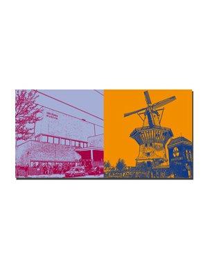 ART-DOMINO® by SABINE WELZ Amsterdam - Van Gogh Museum + Windmühle