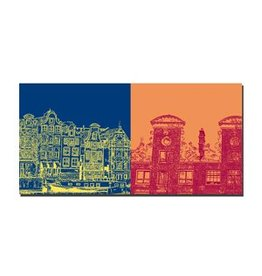 ART-DOMINO® by SABINE WELZ LEINWANDBILD - AMSTERDAM - 4109