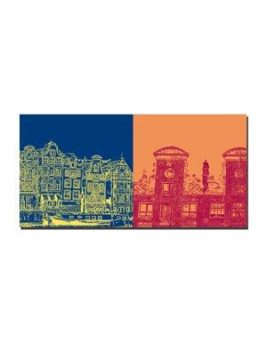 ART-DOMINO® BY SABINE WELZ Amsterdam - Skyline + Maisons de ville