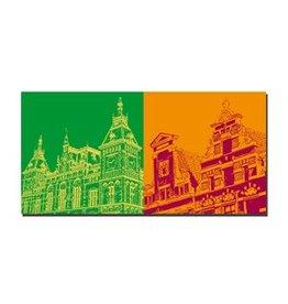 ART-DOMINO® BY SABINE WELZ LEINWANDBILD - AMSTERDAM - 4110