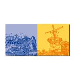 ART-DOMINO® by SABINE WELZ LEINWANDBILD - AMSTERDAM - 4111