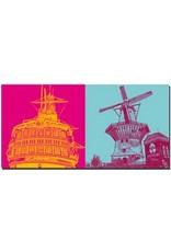 """ART-DOMINO® by SABINE WELZ Amsterdam – Segler """"Amsterdam"""" + Windmühle"""