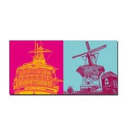 ART-DOMINO® BY SABINE WELZ LEINWANDBILD - AMSTERDAM - 4112
