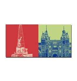 ART-DOMINO® BY SABINE WELZ IMAGE SUR TOILE - AMSTERDAM - 4117