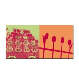 ART-DOMINO® BY SABINE WELZ IMAGE SUR TOILE - AMSTERDAM - 4118