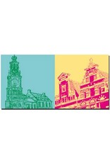 ART-DOMINO® BY SABINE WELZ Amsterdam - Muntoren + Stadthäuser/Giebel