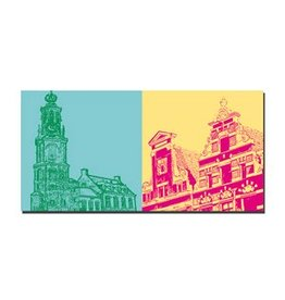 ART-DOMINO® BY SABINE WELZ IMAGE SUR TOILE - AMSTERDAM - 4119