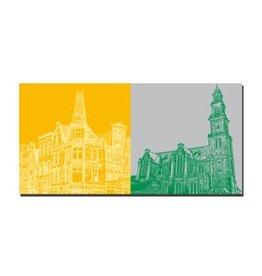 ART-DOMINO® BY SABINE WELZ IMAGE SUR TOILE - AMSTERDAM - 4120