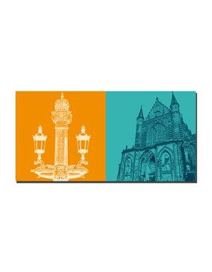 ART-DOMINO® by SABINE WELZ Amsterdam – Kandelaber + Nieuwe Kerk