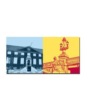 ART-DOMINO® BY SABINE WELZ Amsterdam – Hermitage + Brückendetail