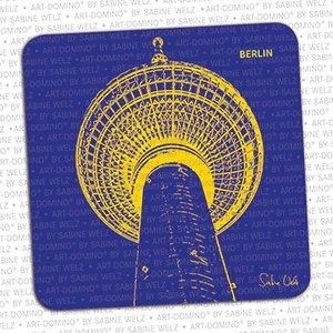 ART-DOMINO® by SABINE WELZ BEER COASTER - Berlin - TV Tower