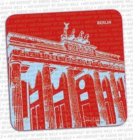 ART-DOMINO® BY SABINE WELZ BEER COASTER - BERLIN - 1