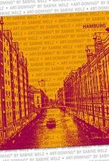 ART-DOMINO® BY SABINE WELZ BEER COASTER - Hamburg - Speicherstadt