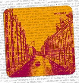 ART-DOMINO® BY SABINE WELZ BEER COASTER - HAMBURG - 1