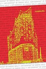 ART-DOMINO® BY SABINE WELZ BEER COASTER - Hamburg - Elbphilharmonie