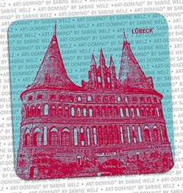 ART-DOMINO® BY SABINE WELZ BEER COASTER - LÜBECK