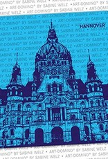 ART-DOMINO® by SABINE WELZ BEER COASTER - Hannover - New Town Hall