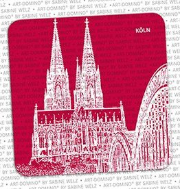 ART-DOMINO® BY SABINE WELZ BEER COASTER - ERFURT