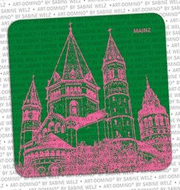 ART-DOMINO® BY SABINE WELZ BEER COASTER - MAINZ
