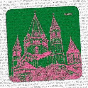 ART-DOMINO® by SABINE WELZ BEER COASTER - Mainz - Dom