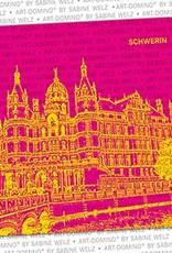 ART-DOMINO® by SABINE WELZ BEER COASTER - Schwerin - Schwerin Castle