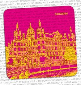 ART-DOMINO® BY SABINE WELZ BEER COASTER - SCHWERIN