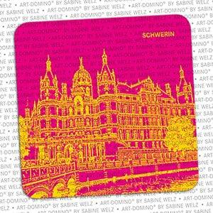 ART-DOMINO® by SABINE WELZ BIERDECKEL - Schwerin - Schweriner Schloss
