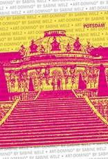 ART-DOMINO® by SABINE WELZ BEER COASTER - Potsdam - Sanssouci Castle