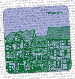 ART-DOMINO® BY SABINE WELZ BIERDECKEL - QUEDLINBURG