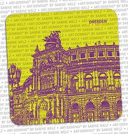 ART-DOMINO® BY SABINE WELZ BEER COASTER - DRESDEN