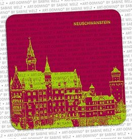 ART-DOMINO® BY SABINE WELZ BEER COASTER - NEUSCHWANSTEIN