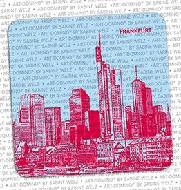 ART-DOMINO® BY SABINE WELZ BEER COASTER - FRANKFURT