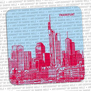 ART-DOMINO® by SABINE WELZ BIERDECKEL - Frankfurt - Skyline