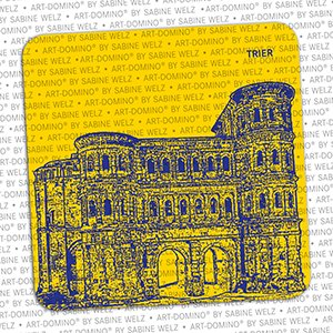 ART-DOMINO® by SABINE WELZ BEER COASTER - Trier - Porta Nigra