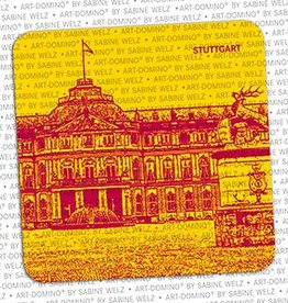 ART-DOMINO® BY SABINE WELZ BEER COASTER - STUTTGART