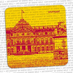 ART-DOMINO® by SABINE WELZ BEER COASTER - Stuttgart - New Castle