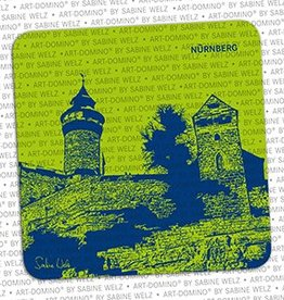 ART-DOMINO® BY SABINE WELZ BEER COASTER - NUREMBERG