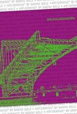 ART-DOMINO® by SABINE WELZ BEVERAGE COASTER - Wilhelmshaven - Kaiser Wilhelm Bridge
