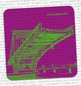 ART-DOMINO® BY SABINE WELZ BEVERAGE COASTER - WILHELMSHAVEN