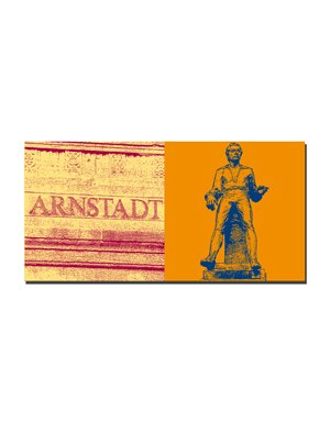 ART-DOMINO® BY SABINE WELZ Arnstadt - Arnstadt-Schriftzug + Johann-Sebastian Bach