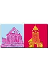 ART-DOMINO® by SABINE WELZ Arnstadt - Bachkirche + Riedtor