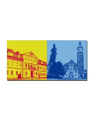 ART-DOMINO® BY SABINE WELZ Arnstadt - Schlossmuseum + Neideckturm neben Landratsamt
