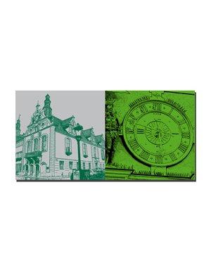 ART-DOMINO® by SABINE WELZ Arnstadt - Rathaus-Ecke + Rathausuhr
