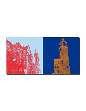 ART-DOMINO® BY SABINE WELZ Arnstadt - Liebfrauenkirche + Neideckturm