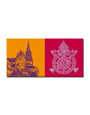 ART-DOMINO® BY SABINE WELZ Aschaffenburg - Stiftskirche + Stiftskirche - Uhr